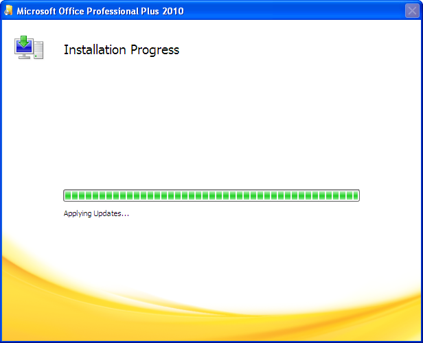 Microsoft Office 2010 Progress Bar