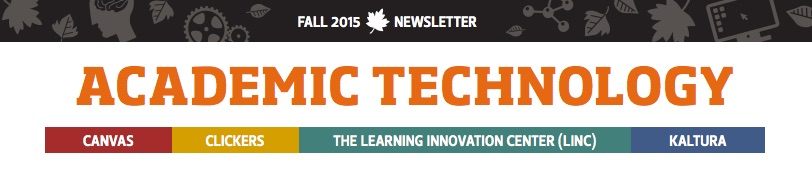 academic techonologies 2015 newsletter
