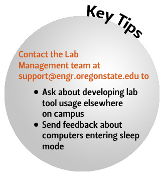 tips for students, faculty, and staff on lab usage