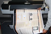 Poster printing and lamination from SMS