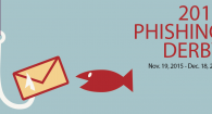 letter on a hook with a little fish by it 2015 Phishing Derby Nov 19, 2015 - Dec 18, 2015