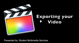 Final Cut Pro X 10.1 How to Export