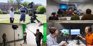 Student Multimedia Studio Collage