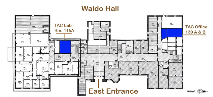Waldo Hall floor plan, 1st floor